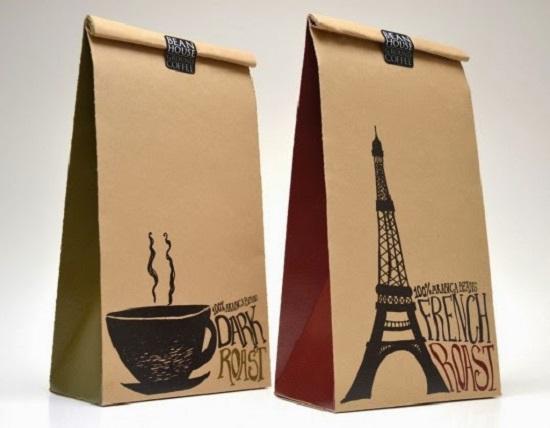 Mẫu túi giấy Kraft đẹp đựng sản phẩm