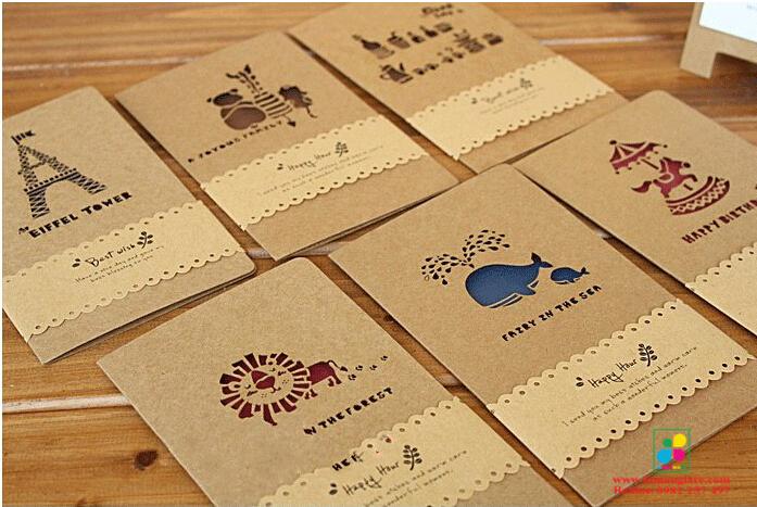 Những lưu ý khi in name card giấy kraft