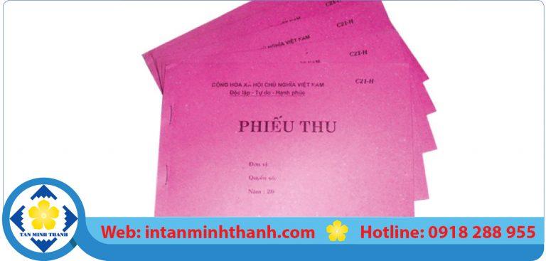 dịch vụ in phiếu thu tphcm